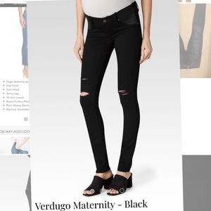 Paige maternity black jeans with side panel